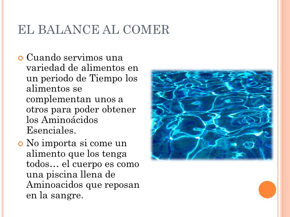 EL BALANCE AL COMER