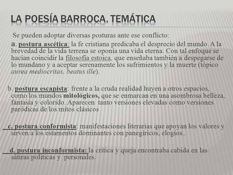 La poesía barroca. temática