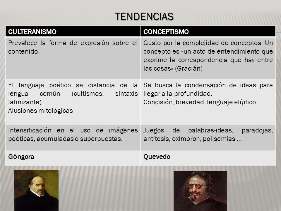 TENDENCIAS CULTERANISMO CONCEPTISMO