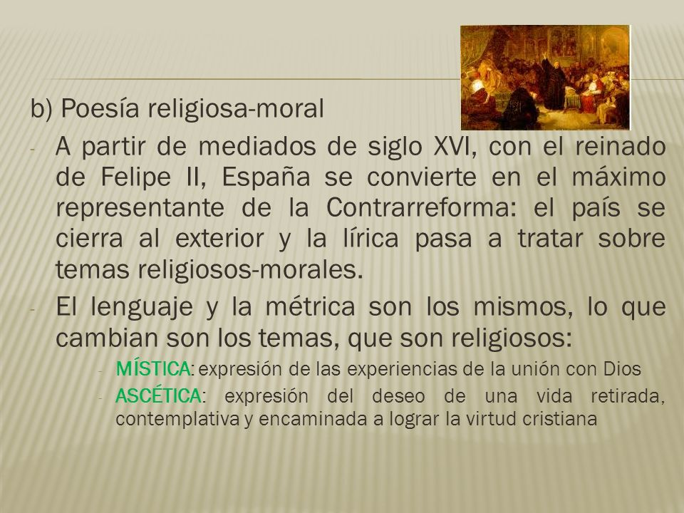 b) Poesía religiosa-moral