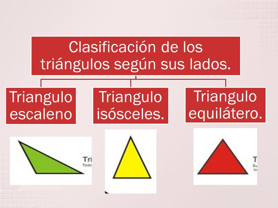 Clasificación de los triángulos según sus lados.