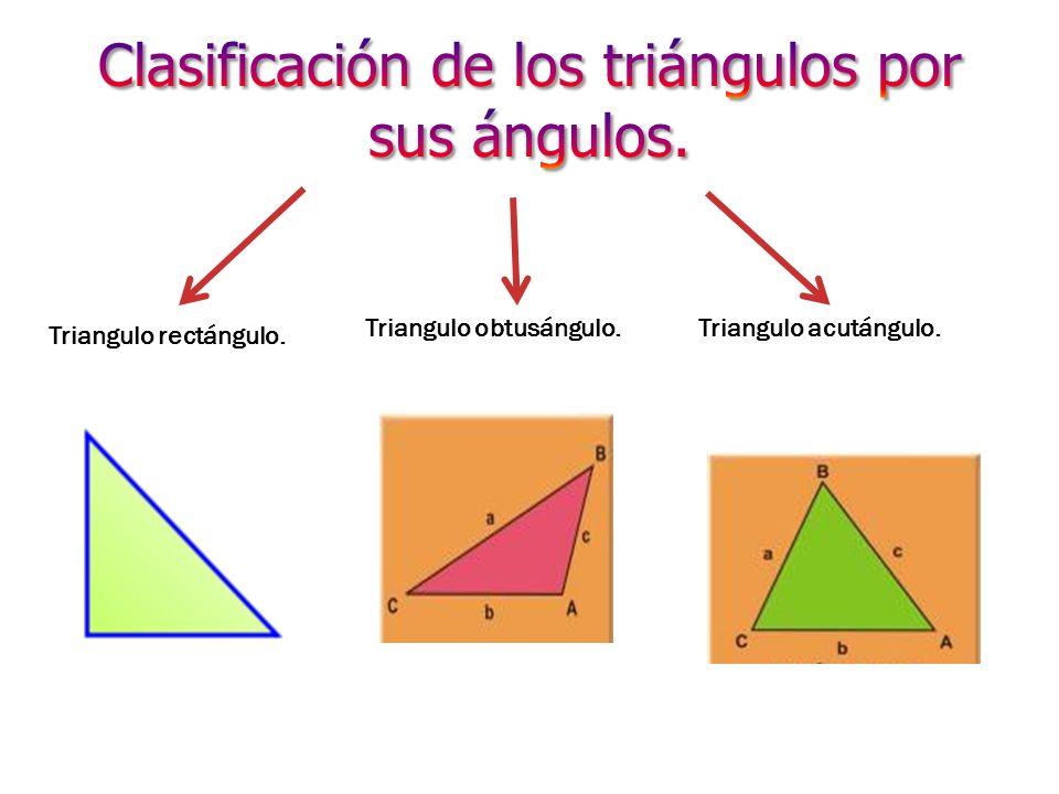 Clasificación de los triángulos por sus ángulos.