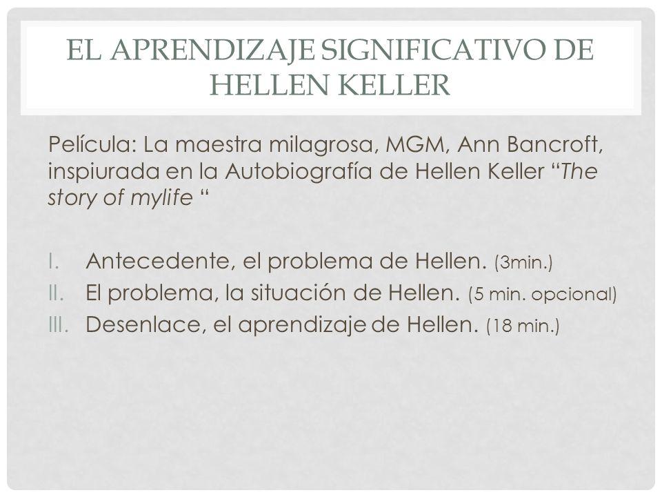 El aprendizaje significativo de Hellen Keller