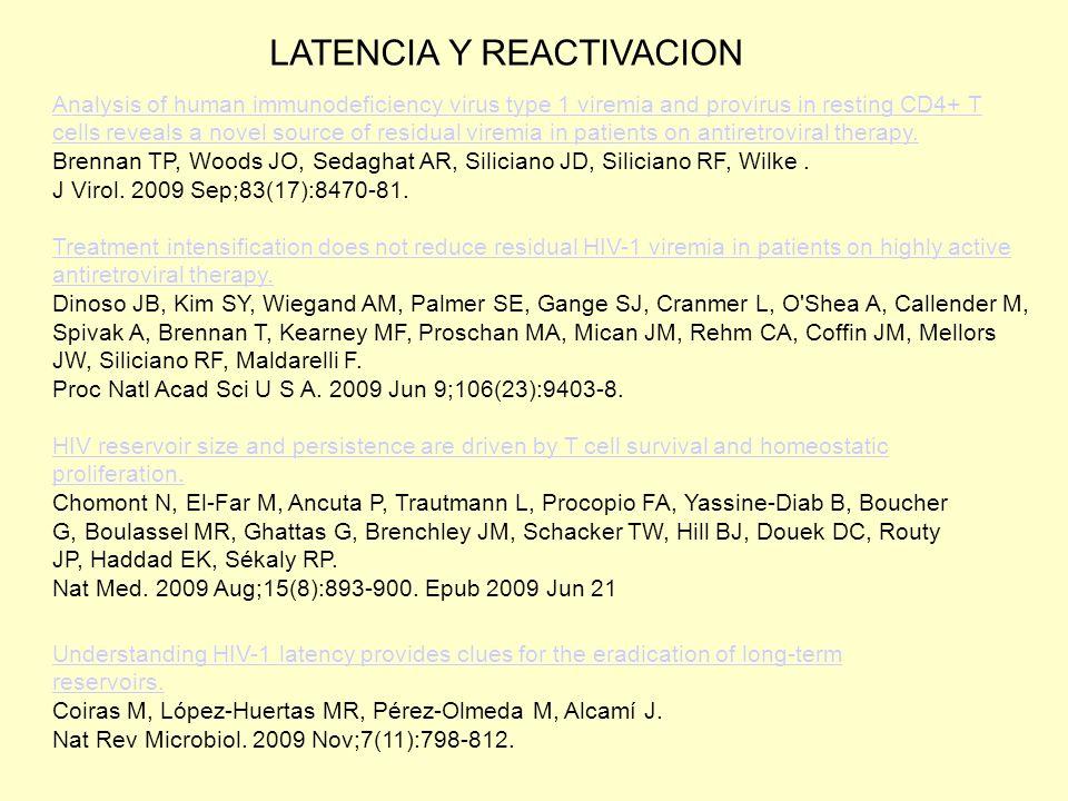 LATENCIA Y REACTIVACION