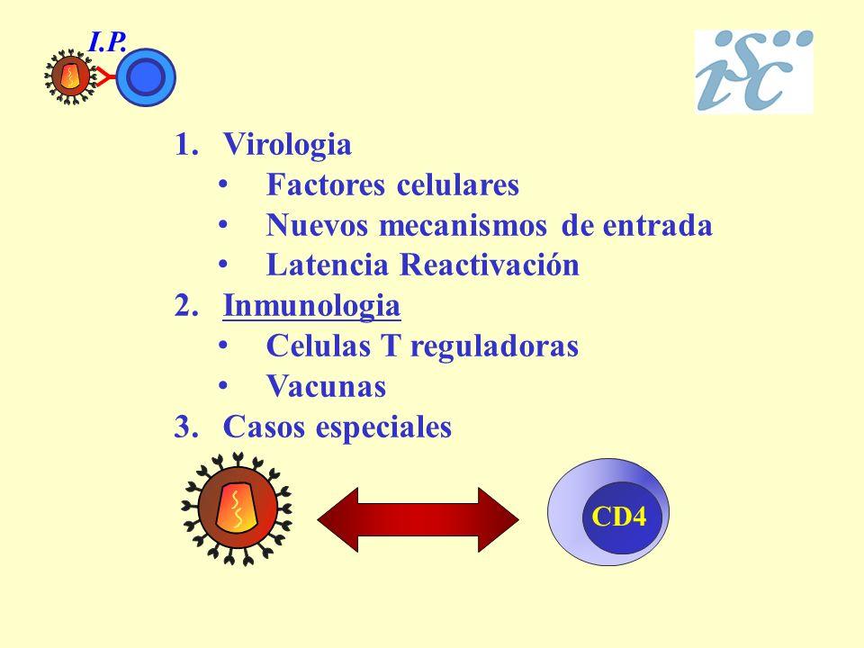 Nuevos mecanismos de entrada Latencia Reactivación Inmunologia