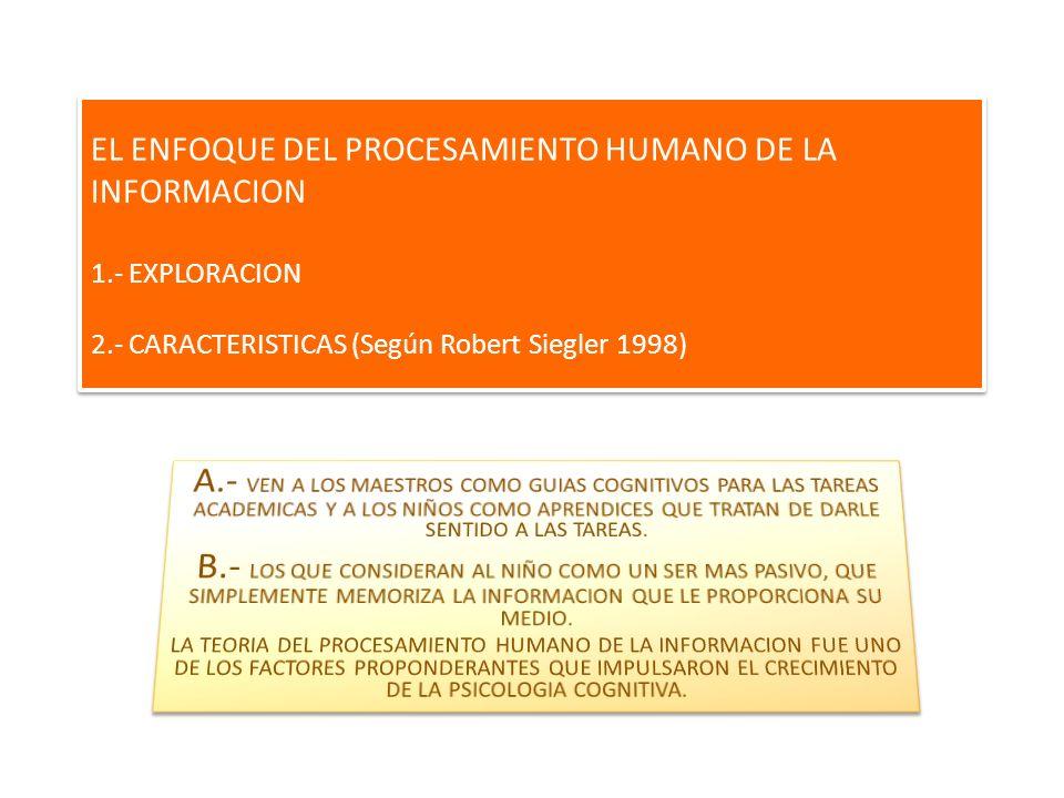 EL ENFOQUE DEL PROCESAMIENTO HUMANO DE LA INFORMACION 1