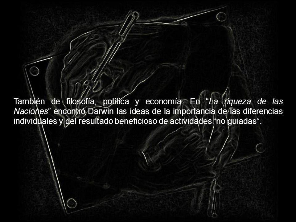 También de filosofía, política y economía
