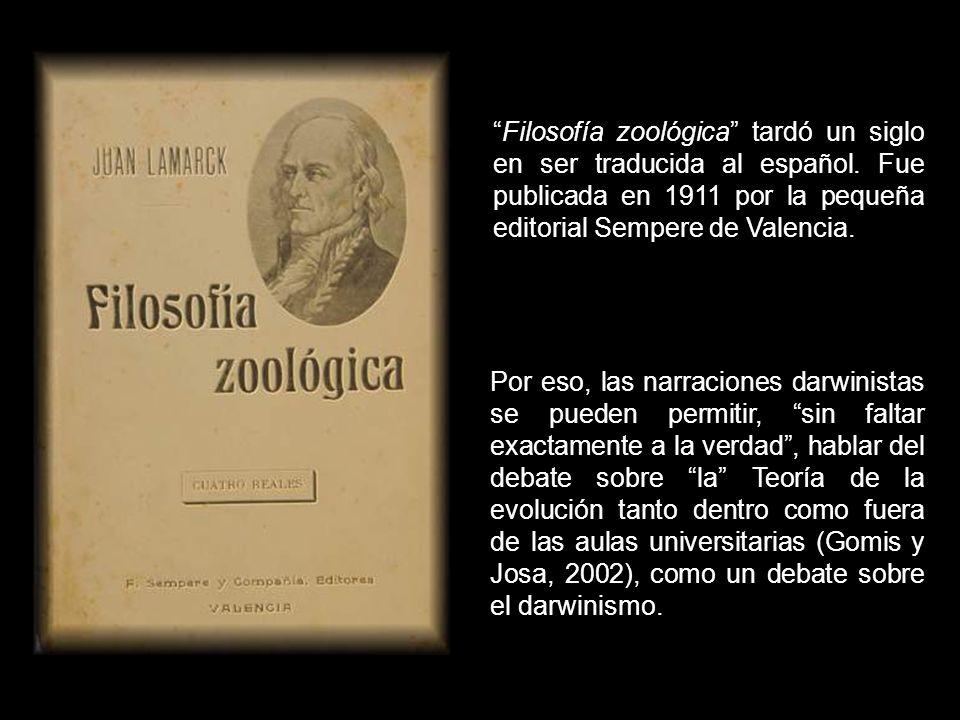 Filosofía zoológica tardó un siglo en ser traducida al español