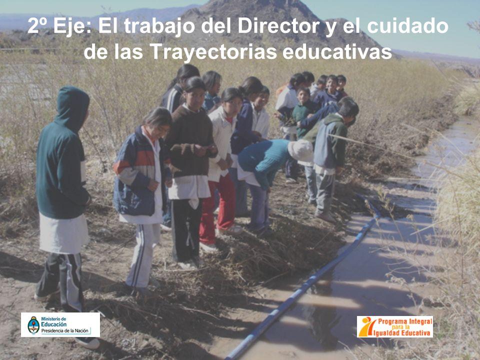 2º Eje: El trabajo del Director y el cuidado de las Trayectorias educativas