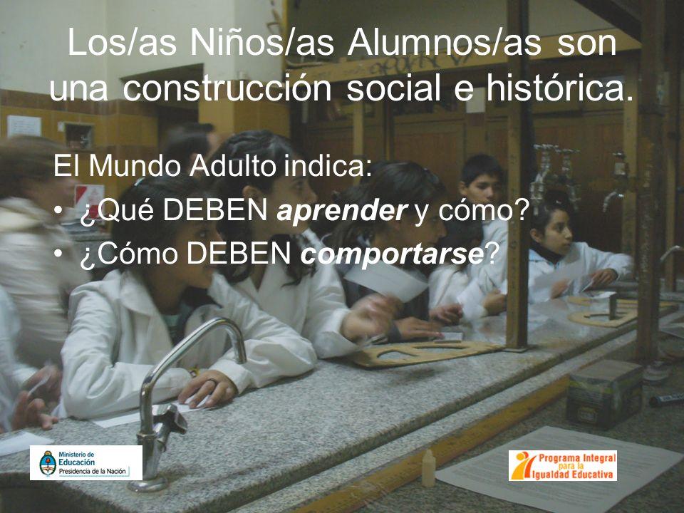 Los/as Niños/as Alumnos/as son una construcción social e histórica.