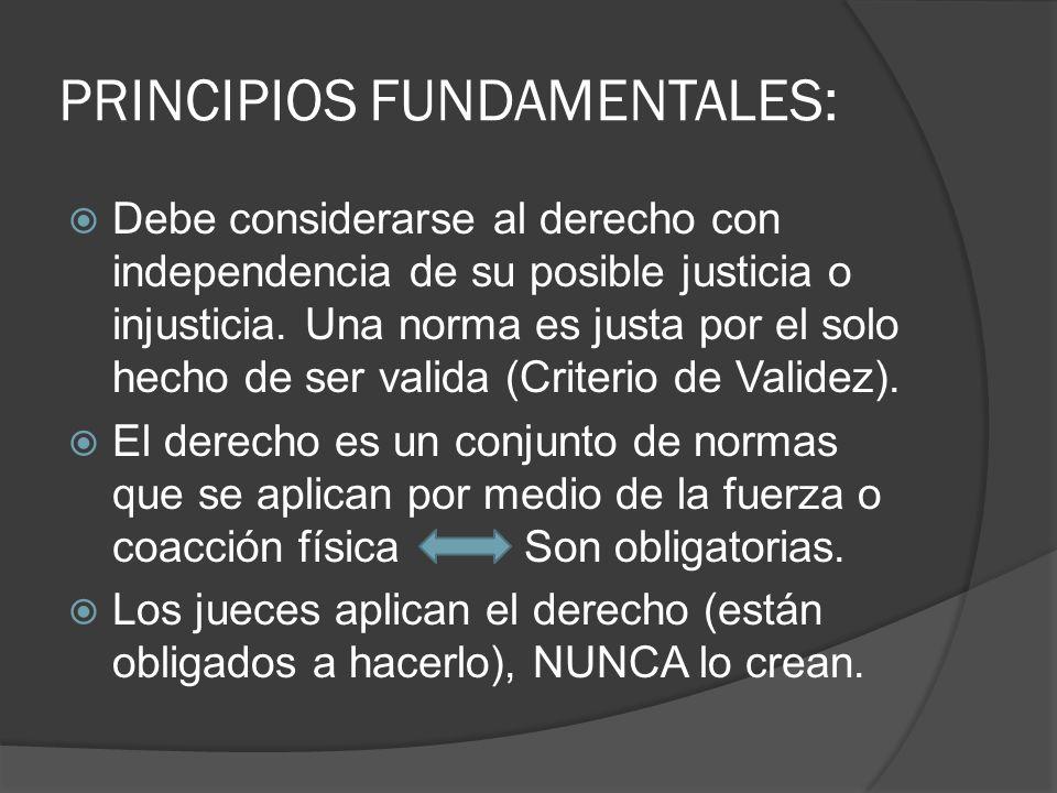 PRINCIPIOS FUNDAMENTALES: