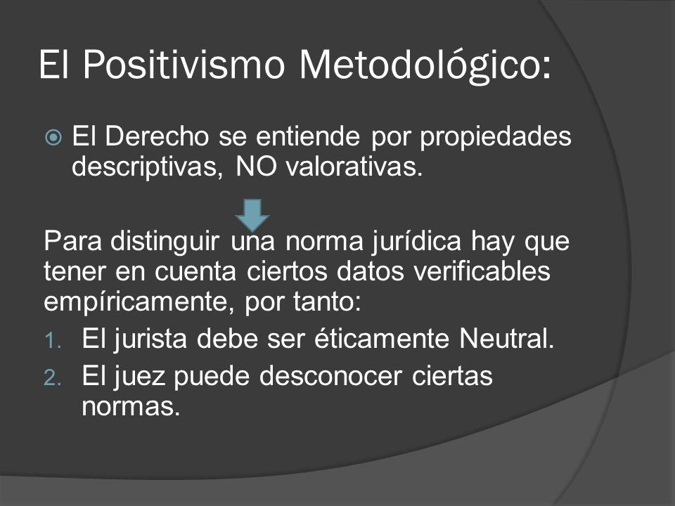 El Positivismo Metodológico: