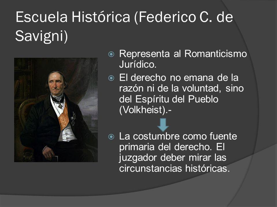 Escuela Histórica (Federico C. de Savigni)