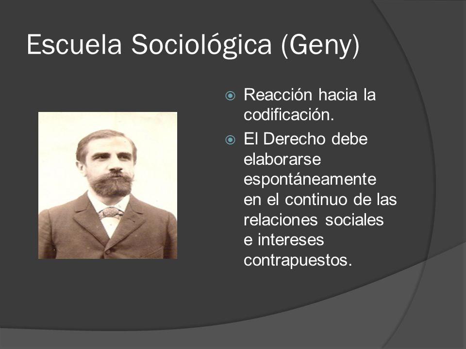 Escuela Sociológica (Geny)