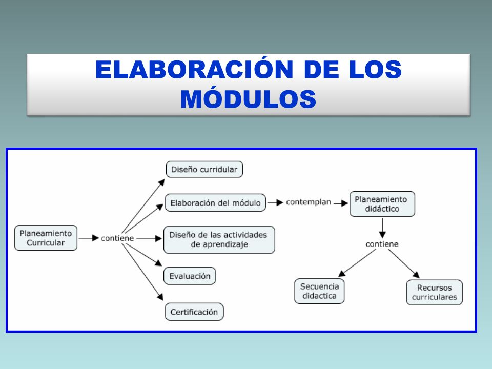 ELABORACIÓN DE LOS MÓDULOS