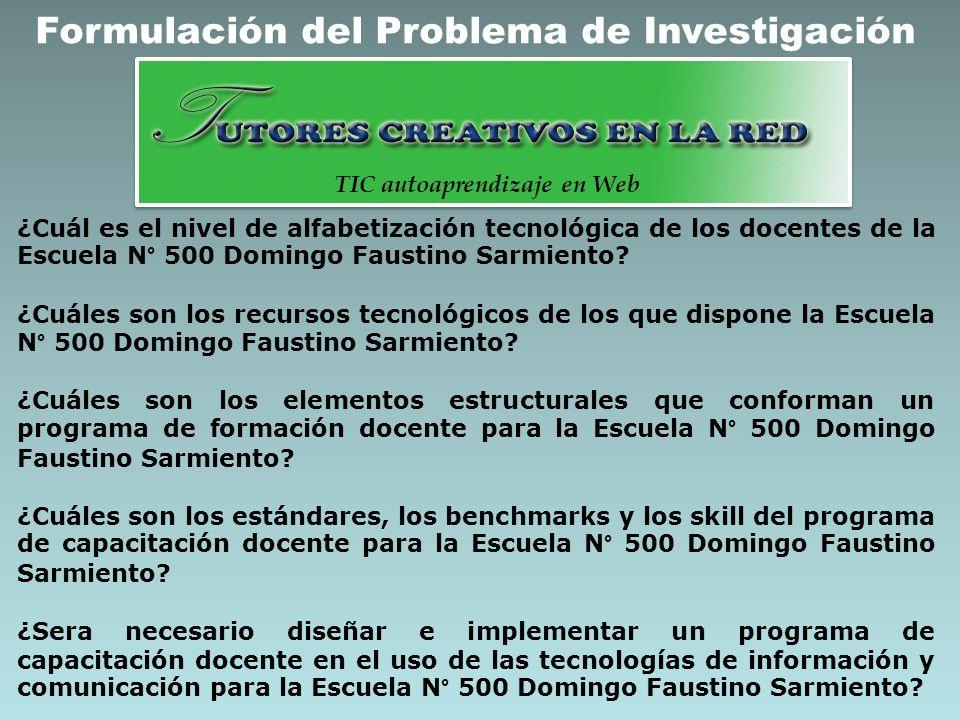 Formulación del Problema de Investigación TIC autoaprendizaje en Web