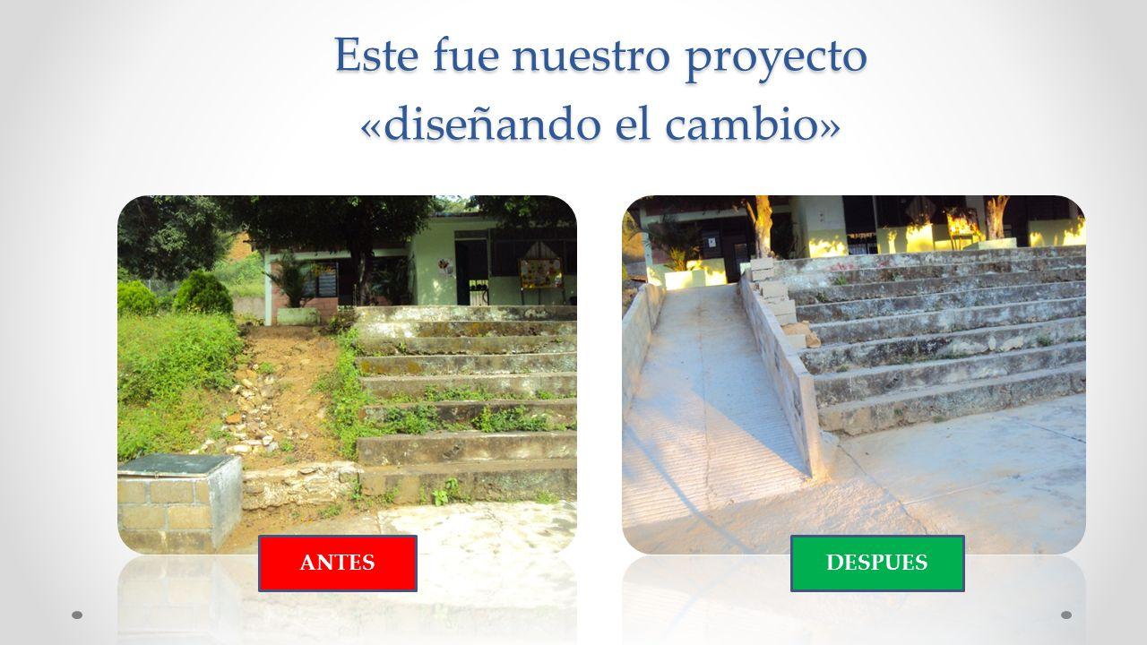 Este fue nuestro proyecto «diseñando el cambio»