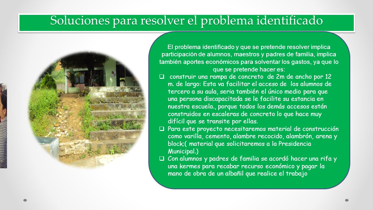 Soluciones para resolver el problema identificado