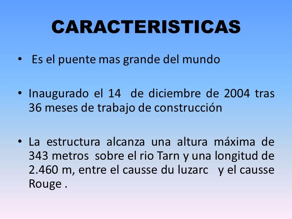 CARACTERISTICAS Es el puente mas grande del mundo