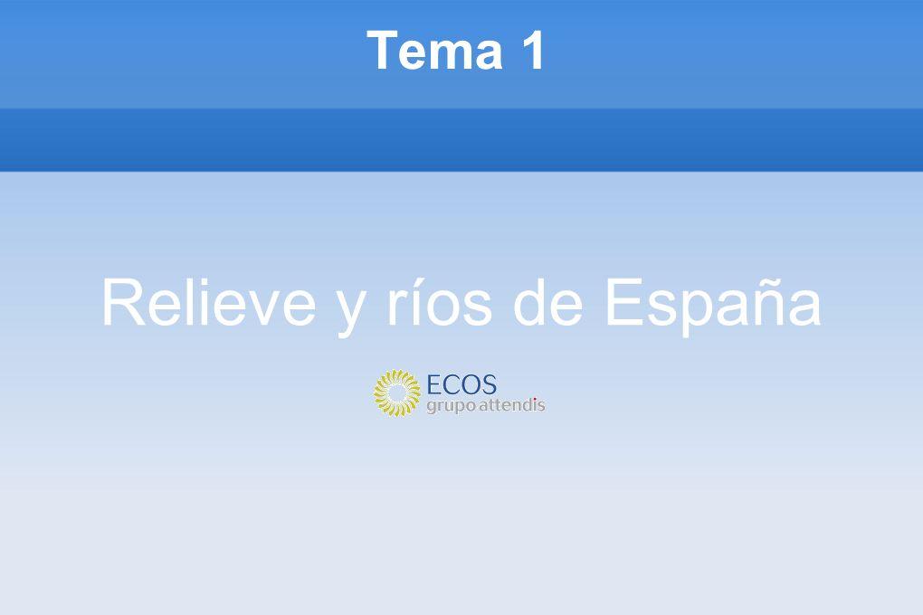 Relieve y ríos de España