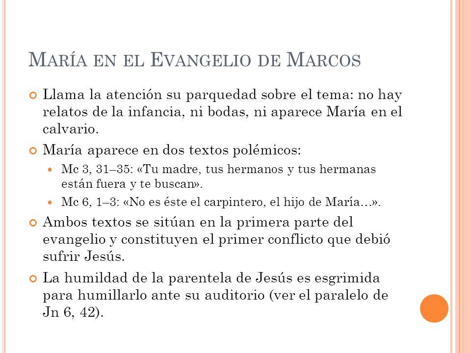 María en el Evangelio de Marcos