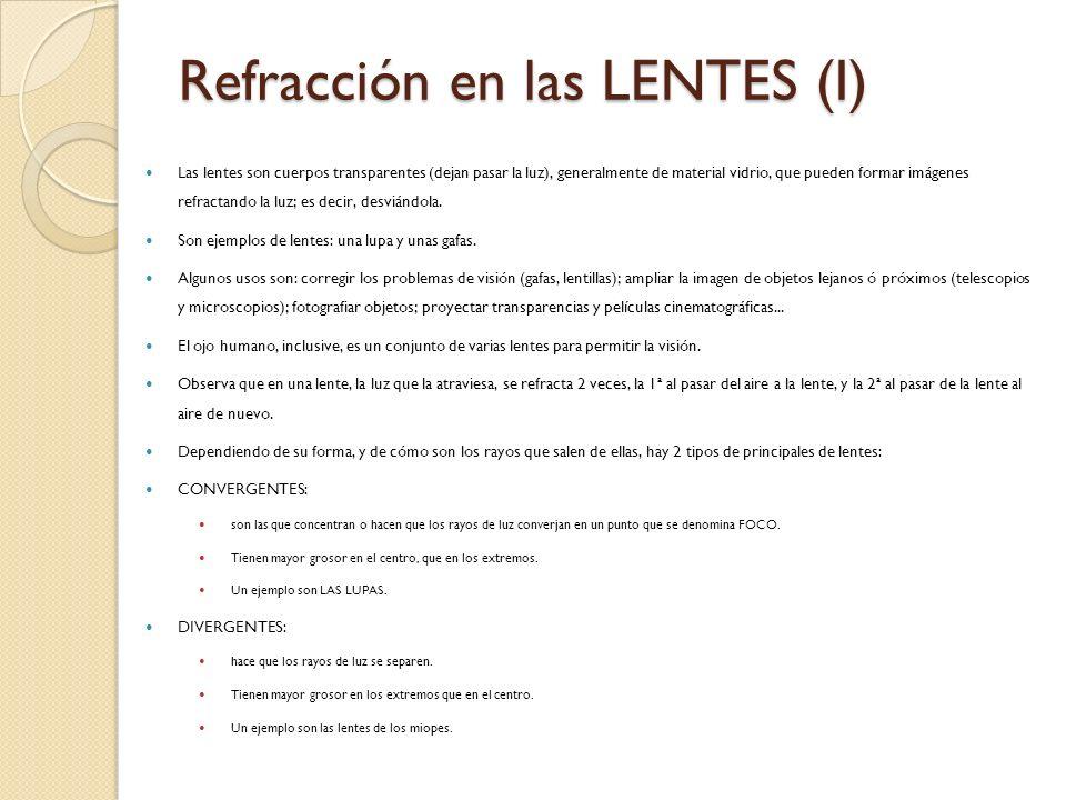 Refracción en las LENTES (I)