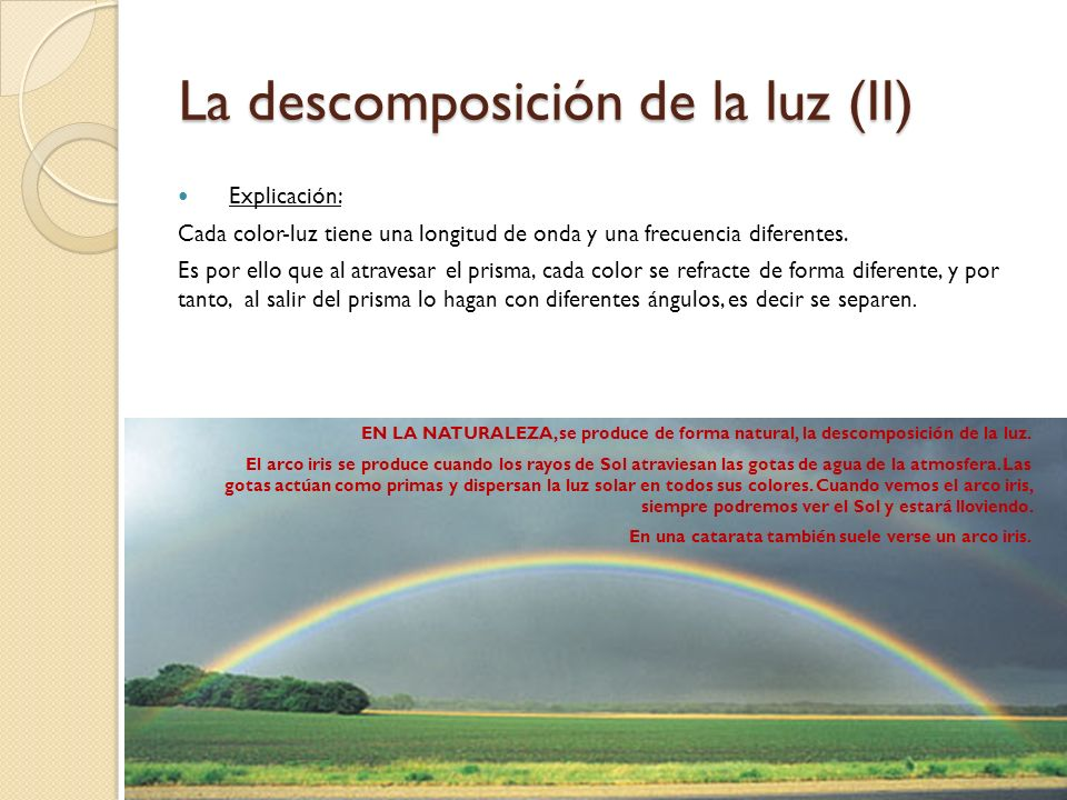 La descomposición de la luz (II)