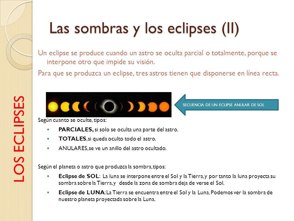 Las sombras y los eclipses (II)