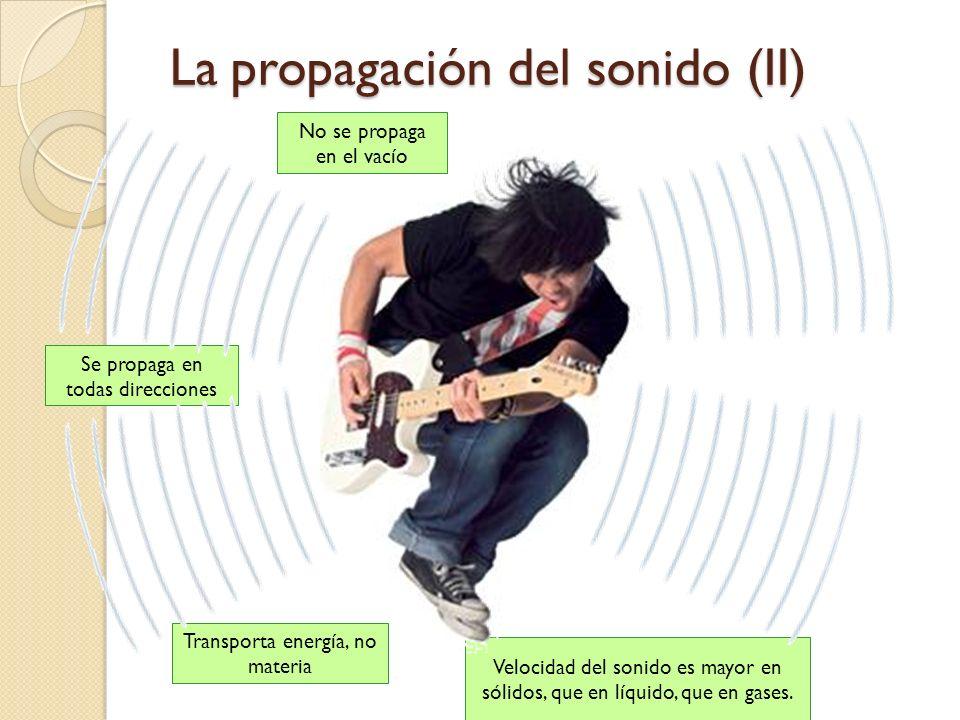 La propagación del sonido (II)