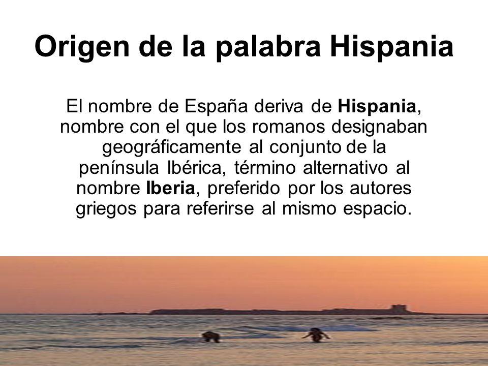 Origen de la palabra Hispania