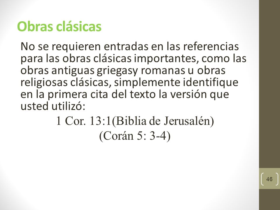 Obras clásicas