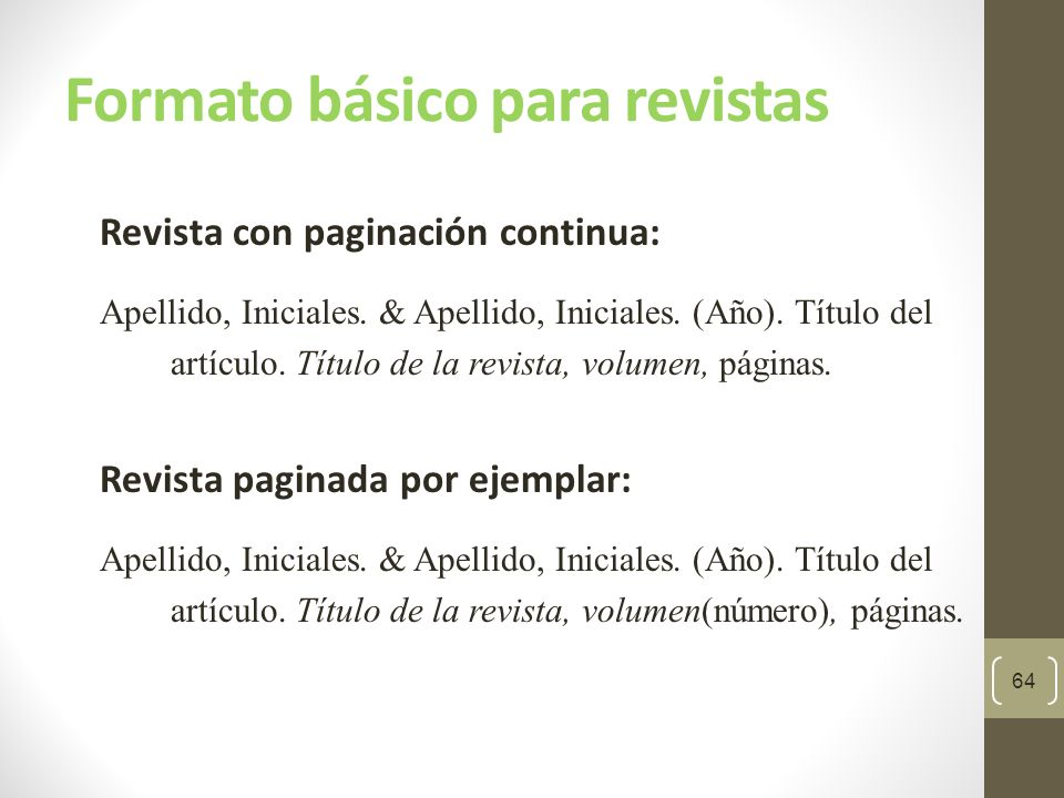 Manual de publicaciones APA, 6ta. ed. - ppt descargar - photo#4