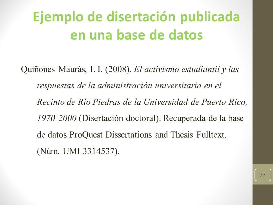 Ejemplo de disertación publicada en una base de datos