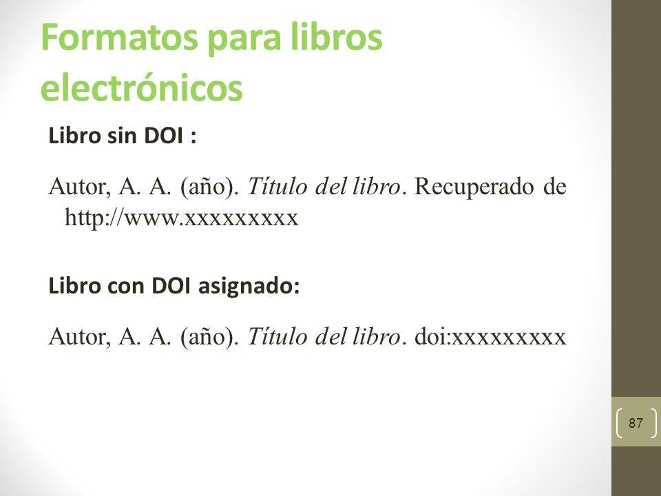 Formatos para libros electrónicos