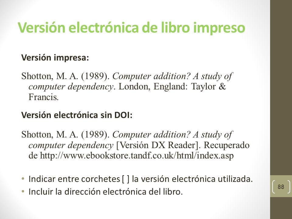 Versión electrónica de libro impreso