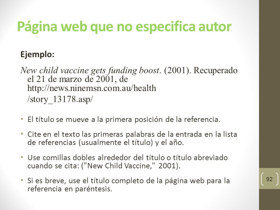 Página web que no especifica autor