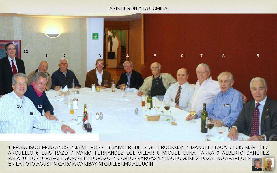 ASISTIERON A LA COMIDA 12.