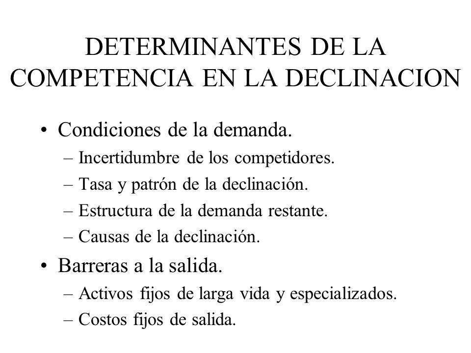 DETERMINANTES DE LA COMPETENCIA EN LA DECLINACION