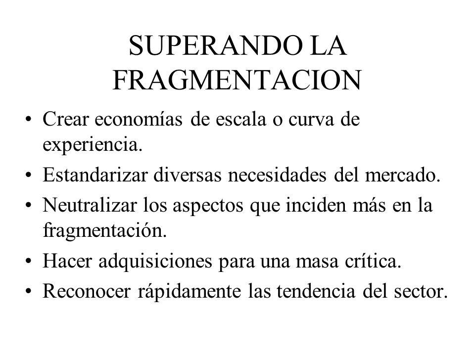 SUPERANDO LA FRAGMENTACION