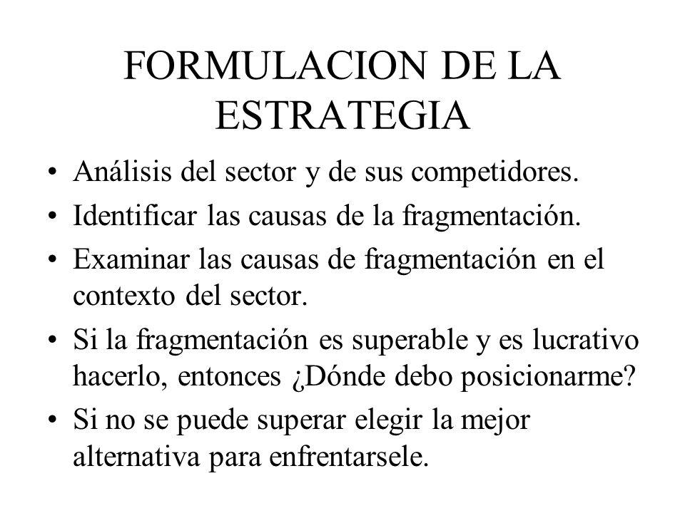 FORMULACION DE LA ESTRATEGIA