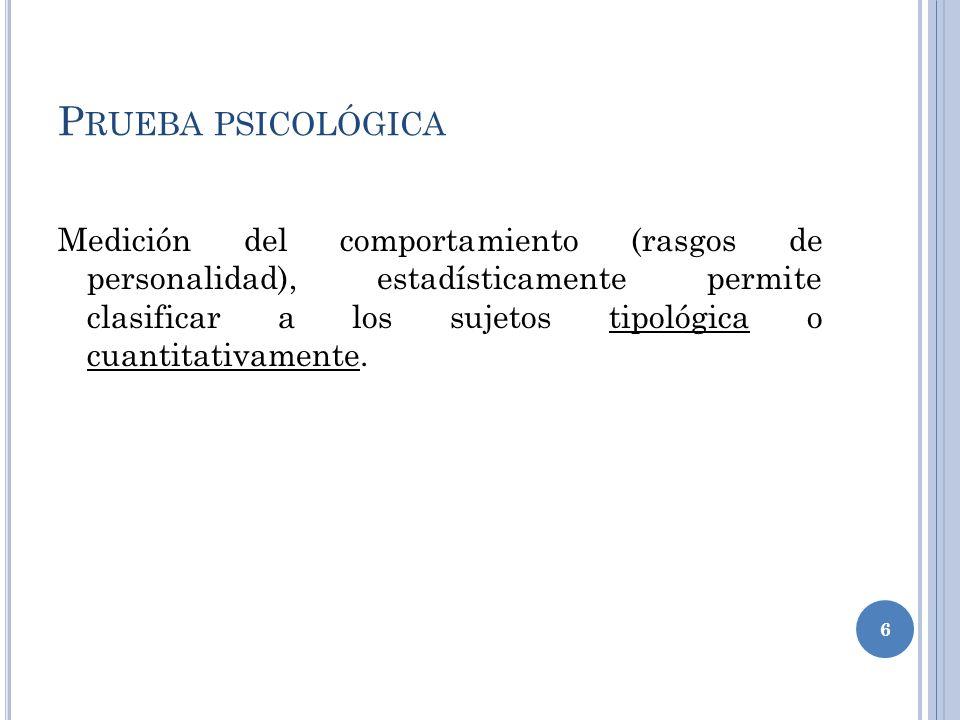 Prueba psicológica