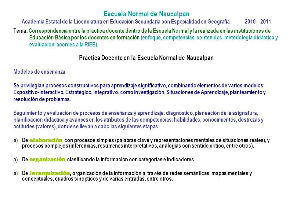 Práctica Docente en la Escuela Normal de Naucalpan