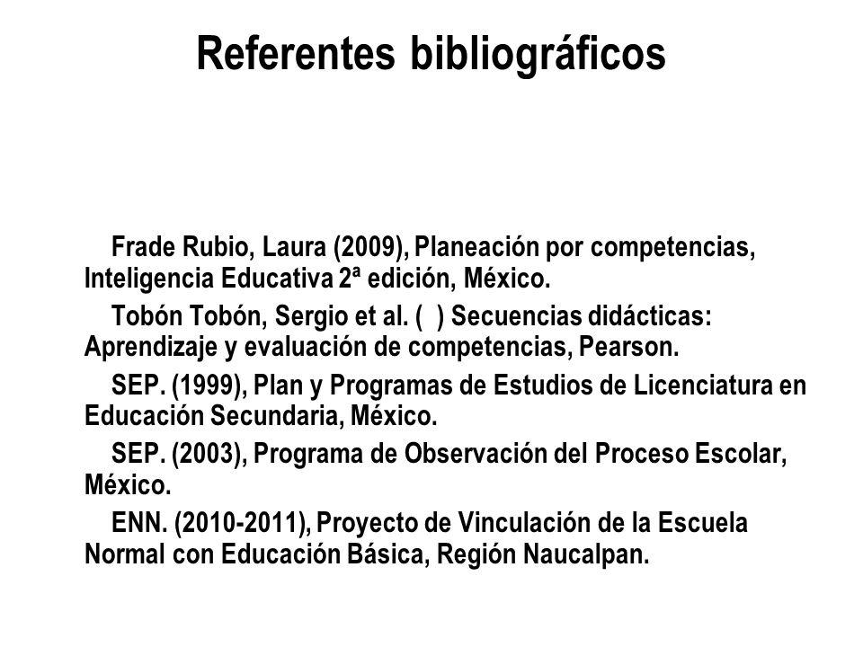 Referentes bibliográficos