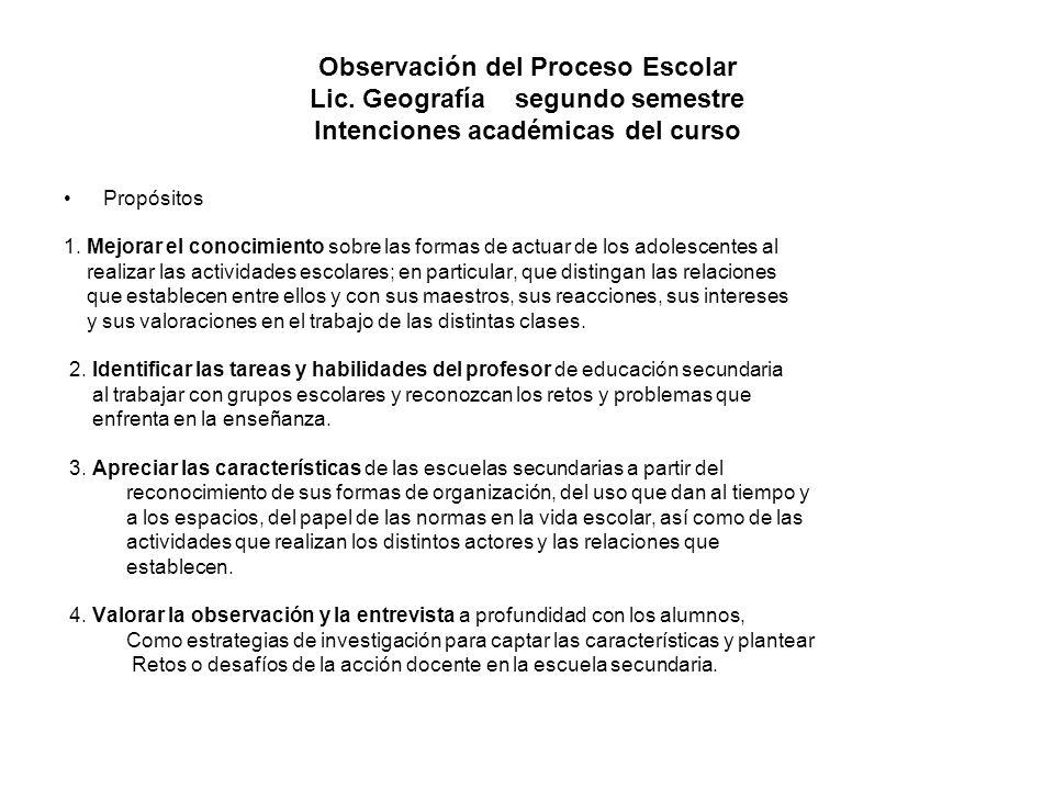 Observación del Proceso Escolar Lic