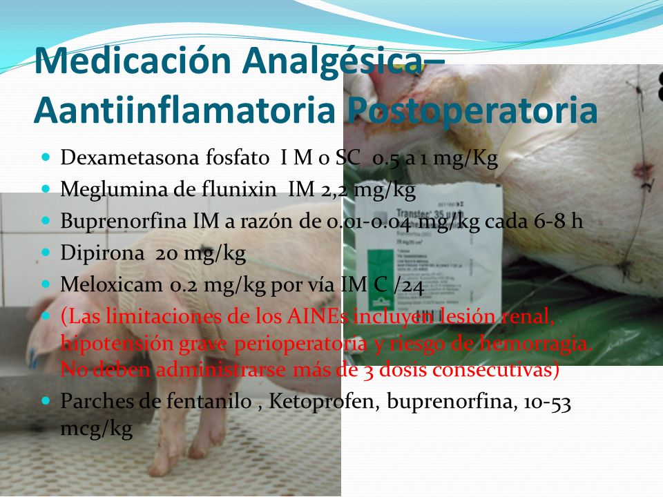 Medicación Analgésica–Aantiinflamatoria Postoperatoria