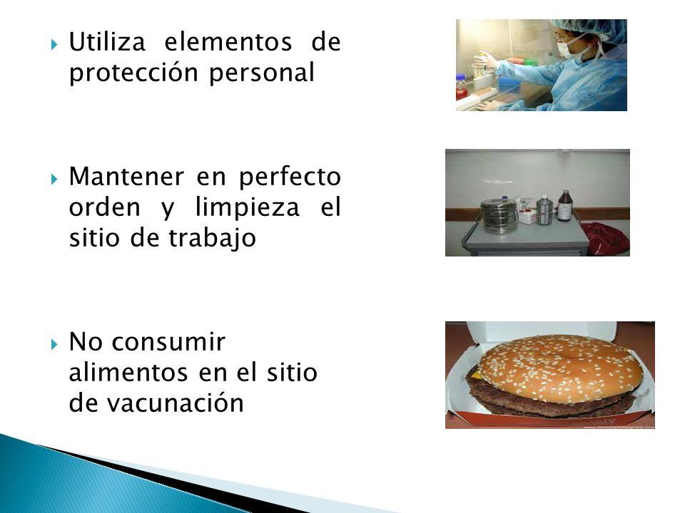 Utiliza elementos de protección personal