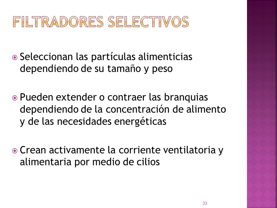 Filtradores selectivos