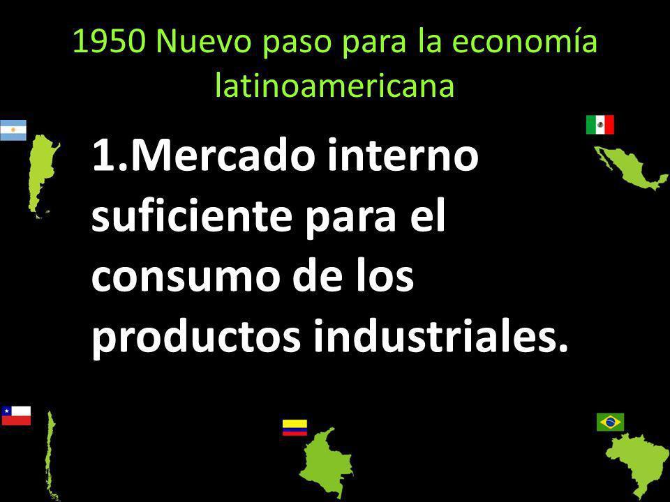 1950 Nuevo paso para la economía latinoamericana