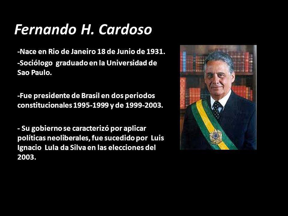 Fernando H. Cardoso -Nace en Rio de Janeiro 18 de Junio de 1931.