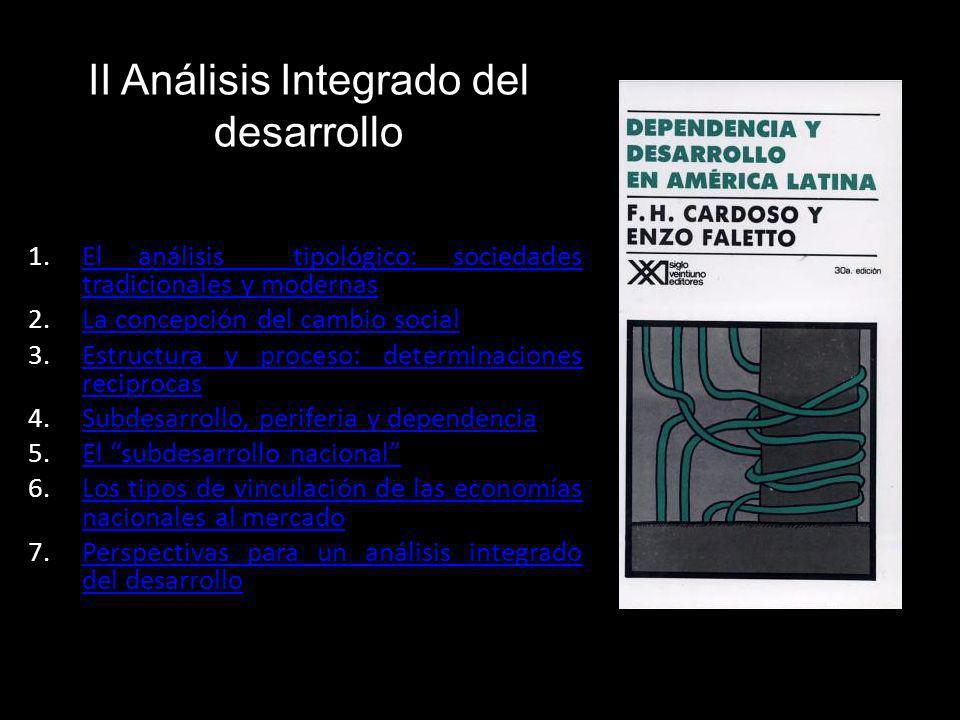 II Análisis Integrado del desarrollo